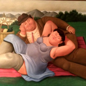 Fernando Botero, Picnic, 2001; Oil on canvas, 113x165cm
