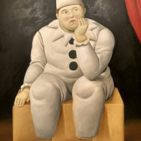 Fernando Botero, Pierrot, 2007; Oil on canvas, 137x99cm
