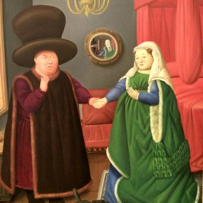 Fernando Botero, The Arnolfinia After Van Eyck, 2006; Oil on canvas, 205x165cm
