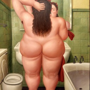 Fernando Botero, The Bath, 1989; Oil on canvas, 249x205cm
