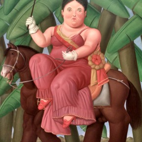 Fernando Botero, The First Lady(DIPTYCH),1989; Oil on canvas, 203x165cm