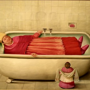 Fernando Botero, The Vatican Bathroom, 2006; Oil on canvas, 147x205cm