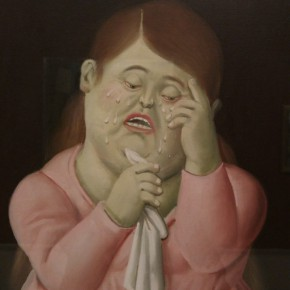 Fernando Botero, Woman Crying, 1998; Oil on canvas, 38.7x33cm