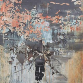 """Lv Song Coming Home 2015 Oil and acrylic on canvas 200x150cm 290x290 - James Cohan Gallery presents """"In Memory of a Landscape II: Lv Song, Wei Jia and Xie Fan"""""""