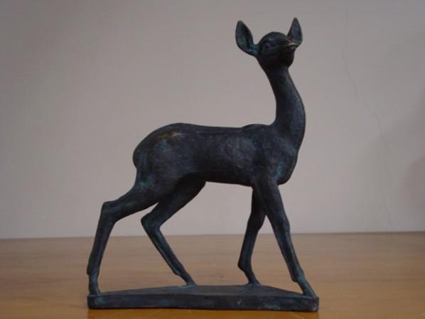 Wang Henei, Deer, 1962, 33x27x10cm