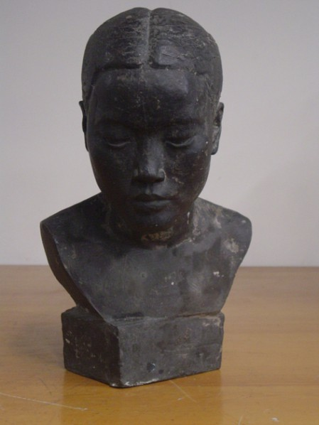 Wang Linyi, Female Head, 1963, 48x29.5x27.5cm
