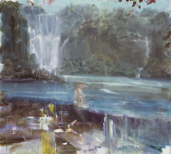 Wei Jia, One Man's River, 2015; Acrylic on canvas