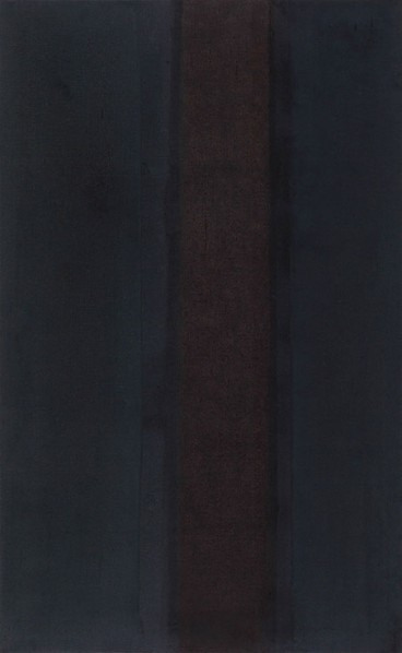 Yun Hyong Keun, Umber-Blue, 1979-1987. Oil on linen. 51 38 x 31 12 in. (130.5 x 80 cm.)