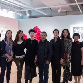 00 Group Photo of Honored Guests 290x290 - In the Mood for Love – the Exhibition of Female Artists' Growth in Art Forms is unveiled at the Gauguin Gallery at Wangjing SOHO