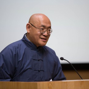 """02 Dean of the School of Chinese Painting CAFA Chen Ping addressed the opening ceremony 290x290 - """"Starting, Inheriting, Innovation and Integration"""" For Chinese Painting (Round II) Exhibition opened at CAFA Art Museum"""