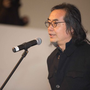 03 Prof. Sui Jianguo talked about Wangs art at the opening 290x290 - Mentality: Wang Shaojun Art Exhibition was unveiled at CAFA Art Museum