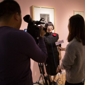 08 Exhibition Director Dong Huiping was interviewed by journalists 290x290 - In the Mood for Love – the Exhibition of Female Artists' Growth in Art Forms is unveiled at the Gauguin Gallery at Wangjing SOHO