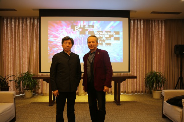 08 Prof. Bernd Kracke talked with Fan Di'an, President of CAFA