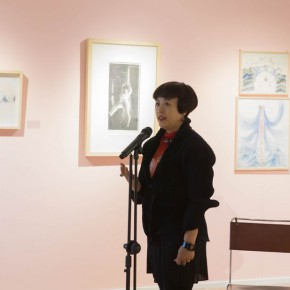 10 Artist Lv Yue spoke at the opening ceremony 290x290 - In the Mood for Love – the Exhibition of Female Artists' Growth in Art Forms is unveiled at the Gauguin Gallery at Wangjing SOHO