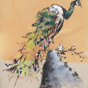 10 Ye Yongqing Peacock 2015 Acrylic on Canvas 200x150cm 290x290 - Gilded Age – The Wanderings of Ye Yongqing to be Presented at Asia Art Center