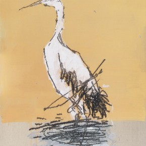 11 Ye Yongqing Crane 2015 Acrylic on Canvas 200x150cm 290x290 - Gilded Age – The Wanderings of Ye Yongqing to be Presented at Asia Art Center