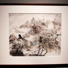 "12 Hong Ling's ink painting exhibited at the exhibition 290x290 - Continuation of Landscape Aesthetics in the Name of Oil Painting: Hong Ling's Global Touring Exhibition ""Great Beauty of Heaven and Earth"""