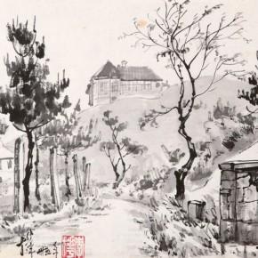 "14 Li Hua The Old Villa in Mount Lu ink on paper 24 x 35.5 cm 1946 290x290 - ""Roar! China"": Li Hua's Works of the 1930s and 1940s debuts in Wuhan"