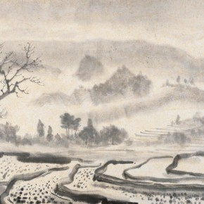 """15 Li Hua Landscape of Fields ink on paper 30 x 40.2 cm 1940 290x290 - """"Roar! China"""": Li Hua's Works of the 1930s and 1940s debuts in Wuhan"""