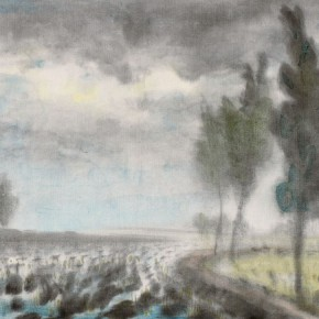 """16 Li Hua Going to Rain ink on paper 23 x 32 cm 1940 290x290 - """"Roar! China"""": Li Hua's Works of the 1930s and 1940s debuts in Wuhan"""