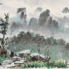 "17 Li Hua Cloudy Mountains 33.5 x 35 cm 1947 290x290 - ""Roar! China"": Li Hua's Works of the 1930s and 1940s debuts in Wuhan"