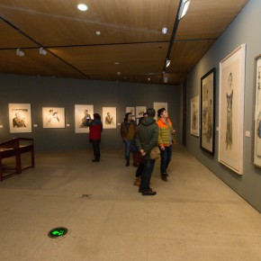 """27 Exhibition view of """"For Chinese Painting Round II""""  290x290 - """"Starting, Inheriting, Innovation and Integration"""" For Chinese Painting (Round II) Exhibition opened at CAFA Art Museum"""