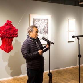28 eputy Party Secretary of the Central Academy of Fine Arts Prof. Wang Shaojun addressed 290x290 - In the Mood for Love – the Exhibition of Female Artists' Growth in Art Forms is unveiled at the Gauguin Gallery at Wangjing SOHO
