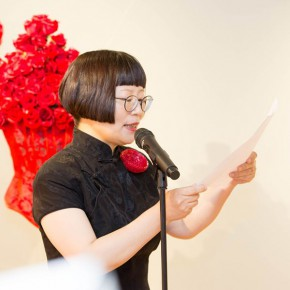 31 Exhibition Director Dong Huiping spoke 290x290 - In the Mood for Love – the Exhibition of Female Artists' Growth in Art Forms is unveiled at the Gauguin Gallery at Wangjing SOHO