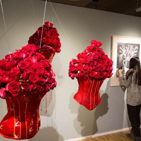 38 Lv Yue Needlework installation 290x290 - In the Mood for Love – the Exhibition of Female Artists' Growth in Art Forms is unveiled at the Gauguin Gallery at Wangjing SOHO