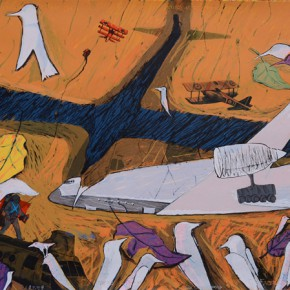 Du Chao Flying Dream of Huamn Beings 2013 print 100x70cm 290x290 - Walking on Plate-Teachers' Work Exhibition of Engraving Department of Tianjin Academy of Fine Arts