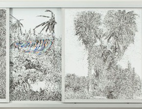 Peng Yi Hsuan Impermanent Marks 2015 whiteboard marker 120x300x10cm 290x223 - Results of the 2015 Taipei Arts Awards will be on display in Taipei Fine Arts Museum