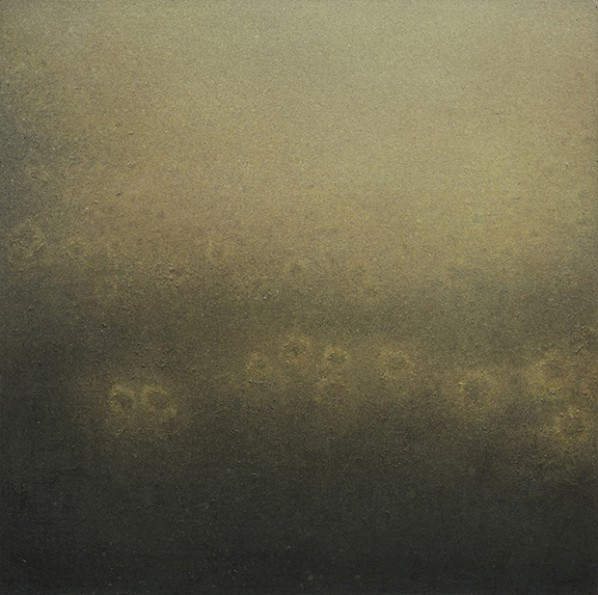 Wang Fengge, Sunflower Sea, 2012; acrylic and oil on canvas, 150x150cm