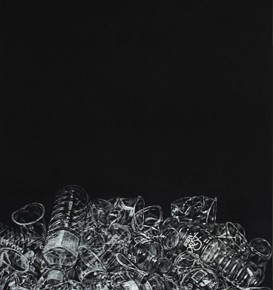 Xiong Yongping Household Utensils Illusions of Memories 2013 print 54x124.5cm 273x290 - Walking on Plate-Teachers' Work Exhibition of Engraving Department of Tianjin Academy of Fine Arts