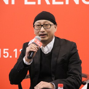 """03 Head curator Feng Boyi made a speech at the press conference of """"UtopiaHeterotopia First Wuzhen International Contemporary Art Exhibition"""""""