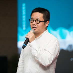 "04 Representative of the artists Qiu Ting addressed the opening ceremony of ""Mountains and Rivers – Chinese Landscape on a Multi Dimensional level"" 290x290 - ""Mountains and Rivers – Chinese Landscape on a Multi-Dimensional Level "" was unveiled in Sanya"