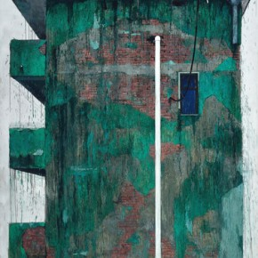 """04 Zhou Dong Big Green Building 2015 Oil on canvas 305x245cm 290x290 - Soka Art Center announces the group exhibition """"Post-80s Generation's Modernism"""" opening Jan. 9 in Beijing"""