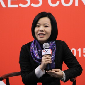 "05 Cultural Wuzhen Co., Ltd. Ms. Chen Yu gave a speech at the press conference of ""UtopiaHeterotopia First Wuzhen International Contemporary Art Exhibition"""