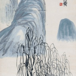 "05 Qi Baishi The Creek with a Bridge and Willows in the Autumn ink on painting 141 x 49 cm 1948 290x290 - With the Mountains and Rivers – Chinese Landscape in the Multi-Dimension"" Opening in Sanya"