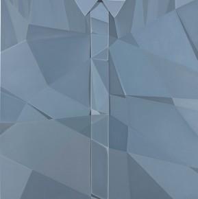 "08 Guo Jian Shirt Grey 2014 Oil on canvas 210x130cm 289x290 - Soka Art Center announces the group exhibition ""Post-80s Generation's Modernism"" opening Jan. 9 in Beijing"