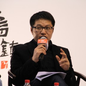 """08 One of the curators Wang Xiaosong gave a speech at the press conference of """"UtopiaHeterotopia First Wuzhen International Contemporary Art Exhibition"""""""