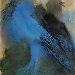 "08 Zhang Daqian The Pine Peak with Clouds in the Morning paper 188 x 96 cm 1969 290x290 - With the Mountains and Rivers – Chinese Landscape in the Multi-Dimension"" Opening in Sanya"