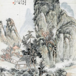 "09 Huang Binhong Lu You's Weinan Poetry Figure ink on paper 151 x 83 cm 1933 290x290 - With the Mountains and Rivers – Chinese Landscape in the Multi-Dimension"" Opening in Sanya"