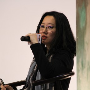 """11 Executive Director of Muxin Art Musuem Xu Bo hosted the press conference of """"UtopiaHeterotopia First Wuzhen International Contemporary Art Exhibition"""""""