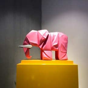 """11 Guo Jian A Small Elephant 2014 Spray paint on copper 70x35x45cm 290x290 - Soka Art Center announces the group exhibition """"Post-80s Generation's Modernism"""" opening Jan. 9 in Beijing"""