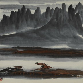"11 Lin Fengmian The Tipsy Fisherman Sings in the Evening paper 68 x 68 cm 290x290 - With the Mountains and Rivers – Chinese Landscape in the Multi-Dimension"" Opening in Sanya"