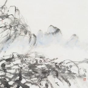 13 Hong Ling, Ink Painting No.6, ink on paper, 67 x 67 cm, 2015