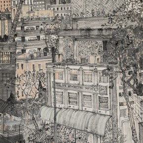 "14 Fang Xiang The Street View of Kowloon Tong paper 250 x 125 cm 20141 290x290 - ""Mountains and Rivers – Chinese Landscape on a Multi-Dimensional Level "" was unveiled in Sanya"