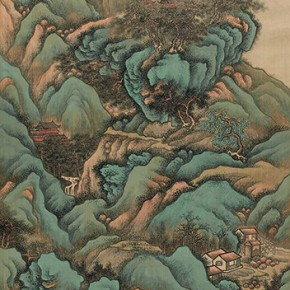 "15 Jin Cheng North Mountain Figure silk scroll 187 x 67 cm 19081 290x290 - ""Mountains and Rivers – Chinese Landscape on a Multi-Dimensional Level "" was unveiled in Sanya"