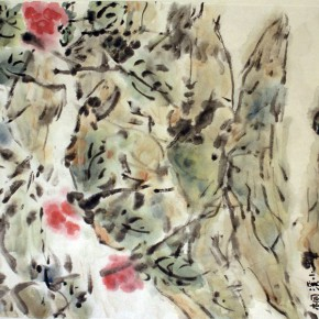 "17 Tongxi Xiaochan Spirit of Flower ink on paper 49.5 x 33 cm 2015 290x290 - With the Mountains and Rivers – Chinese Landscape in the Multi-Dimension"" Opening in Sanya"