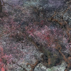19 Hong Ling, Spring Scenery of the Mount Mang, oil on canvas, 250 x 650 cm, 2015